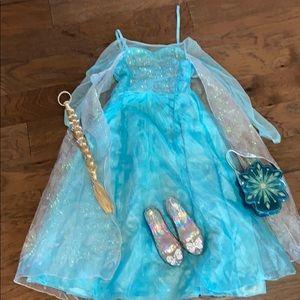 Disney Frozen 2 Elsa dress and accessories